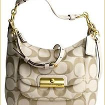 Rare Color Coach 16817 Kristin Signature Hobo Bag Light Khaki & Gold. Photo