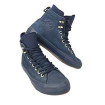 Rare Converse Ctas Hi Blue Suede Midnight Navy Womens 9 Wp Boot Shoe 558820c Euc Photo
