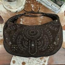Rare Donald J Pliner Suede Hobo Studded Bag Photo