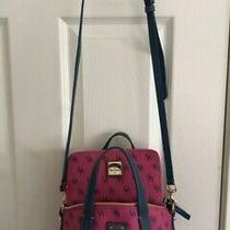 Rare Dooney & Bourke  Fuchsia/blue Cross Body With Matching Wallet  Photo