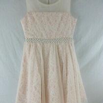 Rare Edition Dress Size 12 Blush Lace Sleeveless Pearls Sash Photo