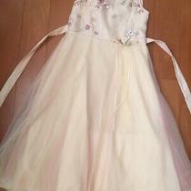 Rare Editions Big Girl's Flower Embroidered Tulle Fancy Formal Dress Sz 14 Blush Photo