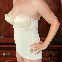 Rare Find Delores by Poirette Vintage Beige All in One Shaper Corset 36 Nwt Photo