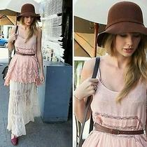 Rare Free People Voile and Lace Trapeze Slip Dress Blush  Xs Photo