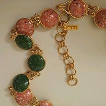 Rare Givenchy Reversible Pink Green Stone  Chain Link Adjustable Belt/necklace Photo