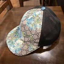 Rare Gucci Blue Bloom Floral Supreme Baseball Hat Cap Authentic Photo