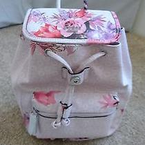 Rare Guess Floral Ashville  Brown /pink Backpack/purse - Free Ship Photo