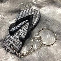 Rare Havaianas Flip Flop Black Key Chain Ring Fob Sandal Thong 5 6 7 8 9 New Photo