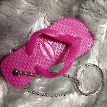 Rare  Havaianas Flip Flop Pink Key Chain Ring Fob Sandal Thong 5 6 7 8 9 New Photo
