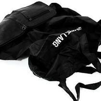 Rare Helmut Lang Black Leather & Nylon Tote Bag Unique Expandable Design Photo