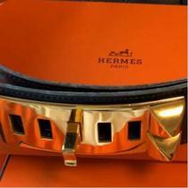 Rare Hermes Belt With Gold Kawaii no.14664 Photo