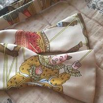 Rare Hermes Scarf Bow Tie Mens Very Unique Photo