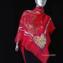 Rare Hermes Silk Chiffon Shawl De Tout Coeur Gm Scarf/carre/musselin Z Pauwels Photo