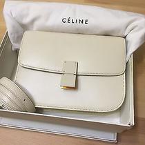 Rare Ivory Ceramic Hardware Celine Classic Box Bag  Photo