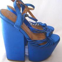 Rare Jeffery Campbell Cosplay 5.5m Blue Metallic Platform Shoe Photo
