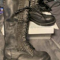 Rare Jeffrey Campbell Free People Studded Seattle Love Leather Boots Size 8 Nib Photo