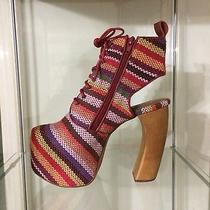 Rare Jeffrey Campbell - the Lana Shoe in Red Multi Stripe - Size 7 - Sold Out Photo