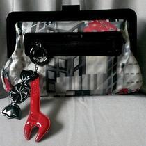 Rare Lesportsac Clutch Handbag Cosmetic Bag Wallet Credit Card Case W/ Keychain Photo
