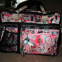 Rare Lesportsac Tokidoki Citta Rosa Trentino Tags Qee Computer Travel Overnight Photo