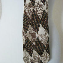 Rare Men's Vintage Christian Dior Monsieur Neck Tie Polo Game Brown Colors Euc Photo