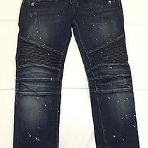 Rare Mens Balmain Jeans Painted / Slim Fit Photo