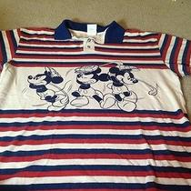 Rare Mickey and Co. by Admit One Men's Mickey Mouse Button Shirt (L) Photo