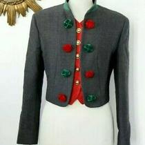 Rare Moschino Vintage Short Wool Blazer Jacket W/ Faux Vest Size It44 Fr40 Us10 Photo