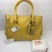 Rare New Coach Legacy Archive Sunflower Yellow Leather Kiss Lock Purse 21192 Photo