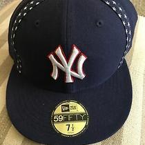 Rare-New Era Mlb Ny New York Yankees 59fifty Stars- Life America (Navy)hat Cap Photo