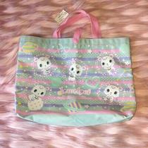 Rare New With Tag Original Sanrio Blue Jewelpet Labra Tote Bag Handbag Jewel Pet Photo