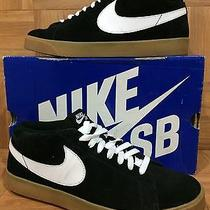 Rare Nike Blazer Sb Cs 395771-002 Size 11 Black Gum Brown Soles White Sneakers Photo