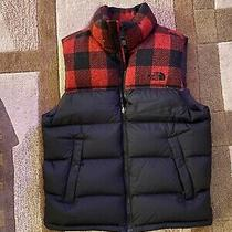 Rare North Face Cardinal Red/plaid Puffer Vest Photo