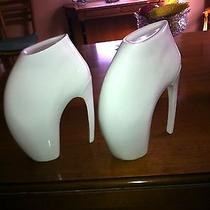 Rare One of a Kind Alexander Mcqueen Porcelain Sculpture Shoes Store Display Photo