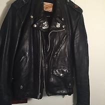 Rare Perfecto Leather Jacket With Stugis Pins and Rare Pony Express Pin W/liner Photo