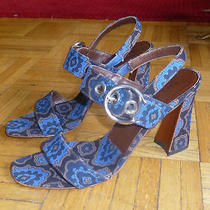Rare Prada Jacquard Print Shoes Sandals Sz 38.5 / 8.5 1200 Photo