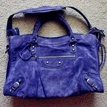 Rare Purple Balenciaga Purple Suede City Bag Photo