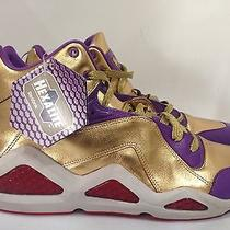 Rare Reebok Kamikaze Sample Hexalite Gold Pack Purple Unique Only One Sz 10.5 Photo