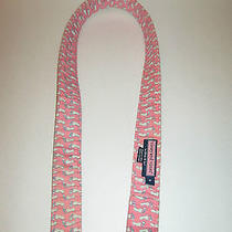 Rare  Retired Pattern Vineyard Vines Sz S Small Pink Blue Footprints Belt Photo