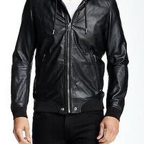 Rare Sold Out Diesel Akura Hooded Leather Lambskin Zip Jacket Hoodie Medium  Photo