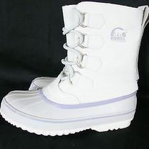 Rare Sorel 1964 Pac Boot White Purple  Waterproof Insulated Winter Snow Size 6 Photo