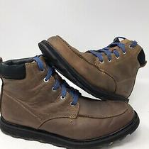 Rare Sorel Madson Ii Moc Toe Waterproof Boot Mens Size 11.5 M Brown Blue Leather Photo