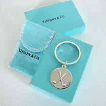 Rare Tiffany & Co Sterling Silver Golf Theme Keyring Key Chain in Box Photo