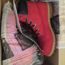 Rare Timberland Red Boots Photo