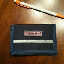 Rare Tri-Fold Vintage Vineyard Vines Velcro Wallet With Reflective Strip Photo