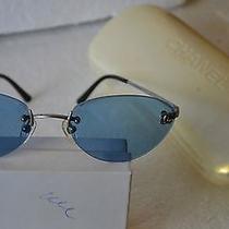 Rare Unique Authentic Chanel 4003 C.103/72 53-19 130 Sunglasses - Blue Photo
