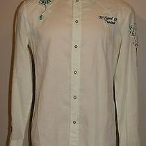 Rare Unique Diesel Men's Western Pear Snap Embroidered Shirt Size Large Photo