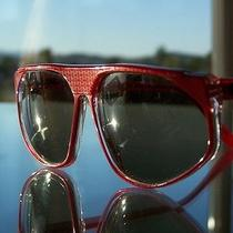 Rare Unique Vtg Lanvin Cranberry Translucent Sunglasses Photo