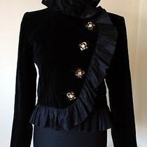 Rare/unique Vtg Yves Saint Laurent Paris Black Velvet Jacket Made in France Photo