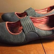 Rare & Unique Women's Skechers Gray Mary Jane Fabric Slip on Shoes Size 9 Photo