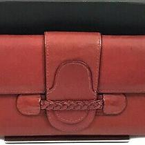 Rare Valentino Garavani Braided Rope Flap Red Leather Continental Bifold Wallet  Photo